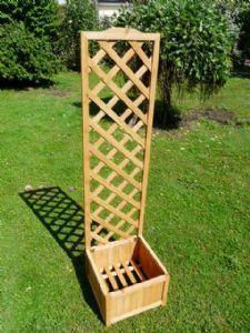 Square Wooden Lattice Trellis Planter