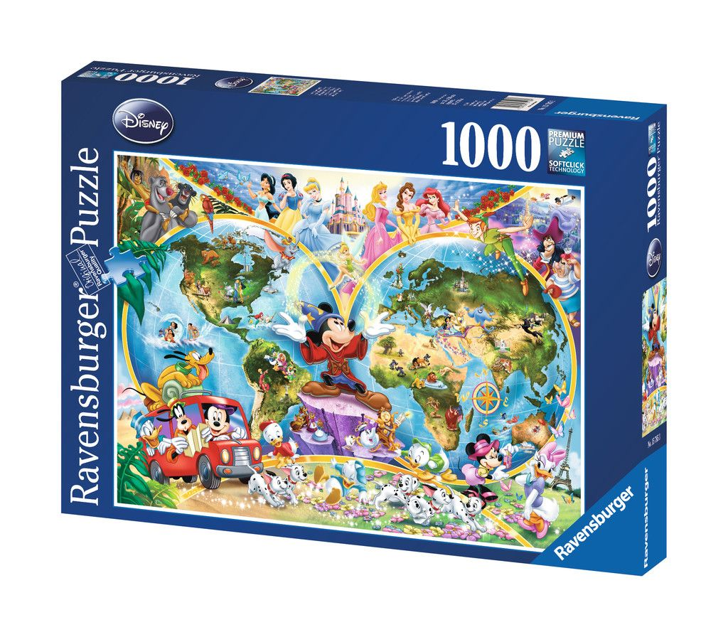 Disney world map 1000pc adult puzzles puzzles products uk disney world map 1000 piece jigsaw puzzle featuring the entire disney family disney princess donald duck mickey mouse peter pan and many more gumiabroncs Gallery