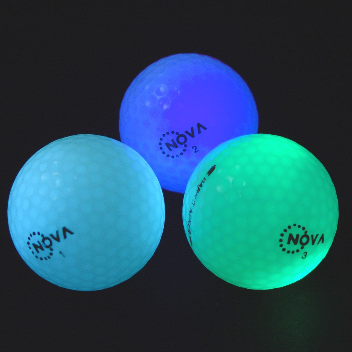 3 Pack Nova Dark Tracker Light Up Golf Balls Led Glow Night Twilight 3 Color Golf Ball Golf Ball Gift Golf