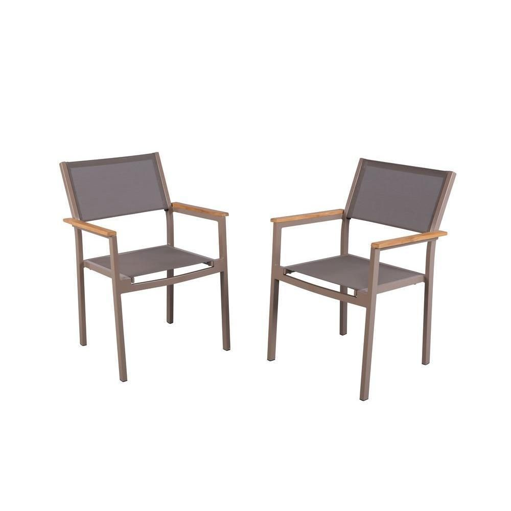 hampton bay barnsdale teak patio dining chair 2 pack hamptonbay rh pinterest com