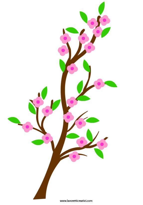 Peach branch easter pinterest sagome vetri delle finestre e infanzia - Decorazioni primaverili per finestre ...