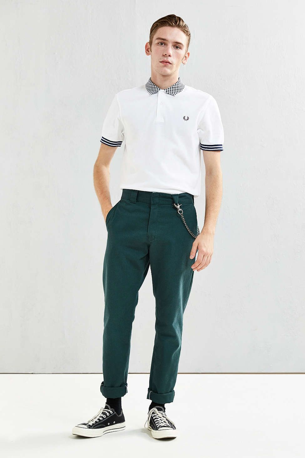 75a73244 Fred Perry Checkerboard Polo Shirt - Urban Outfitters Fred Perry Polo, Just  For Men,