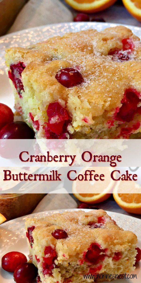 Cranberry Orange Buttermilk Coffee Cake