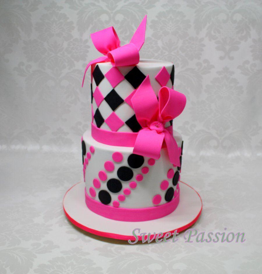 fucsia negro y blanco | Jelly 3D & cake | Pinterest | Fucsia, Negro ...