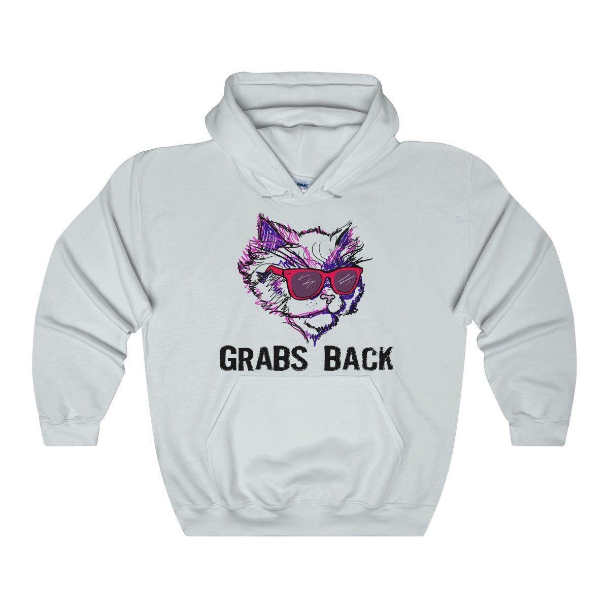 Cool Kitty Grabs Back Hooded Sweatshirt