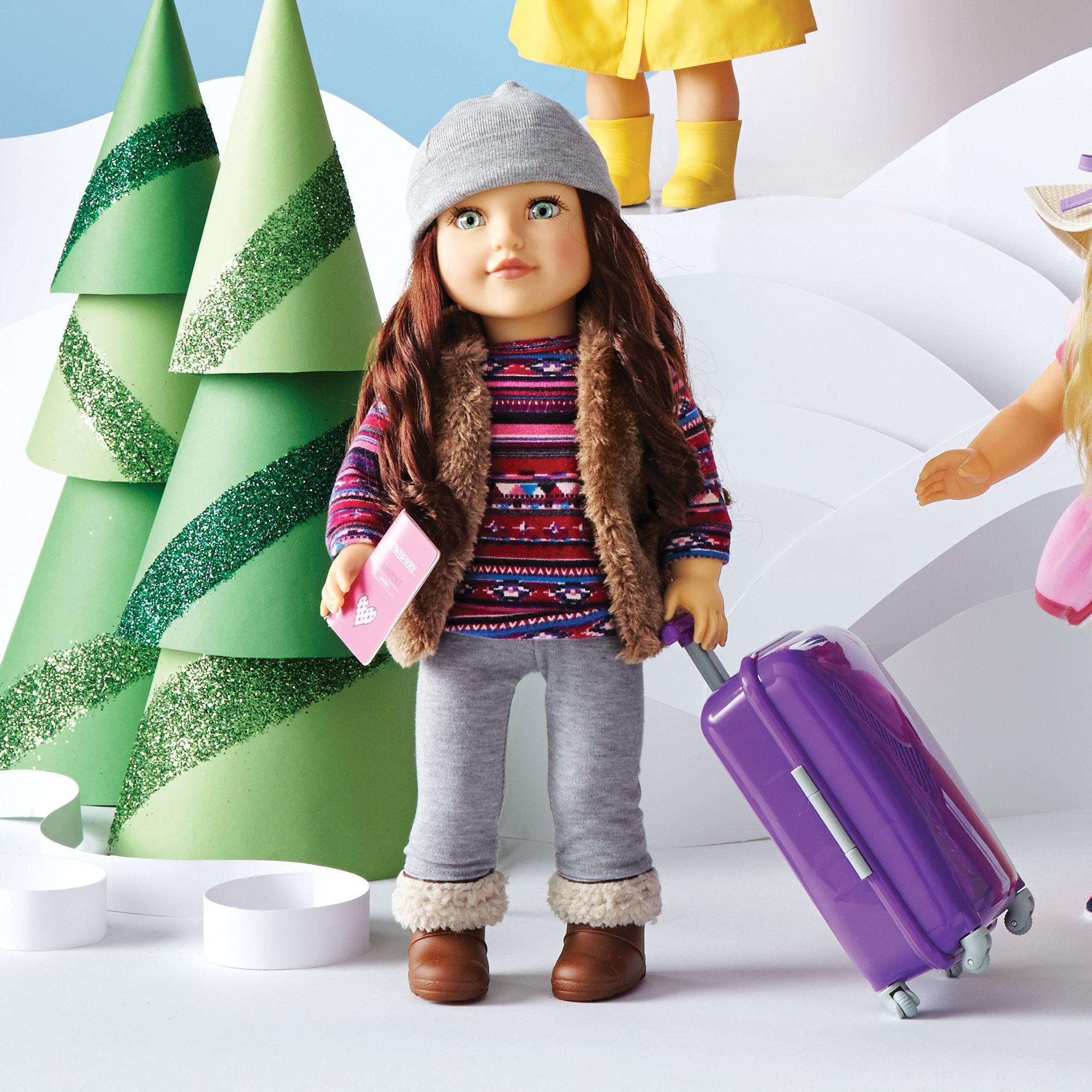 "Sears Mattress Sets >> Newberry(TM/MC) 18"" Doll - Travel Girl Avery | American ..."