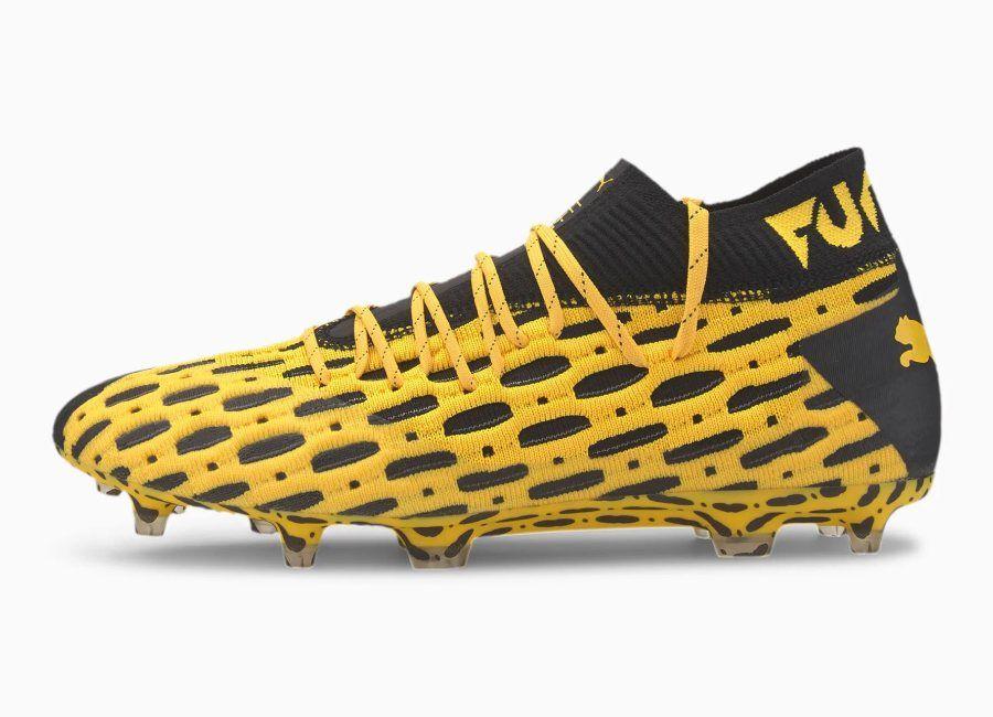 Puma Future 5 1 Netfit Fg Ag Spark Ultra Yellow Puma Black Footballboots Pumafootball In 2020 Football Boots Black Color Combination Football Fashion