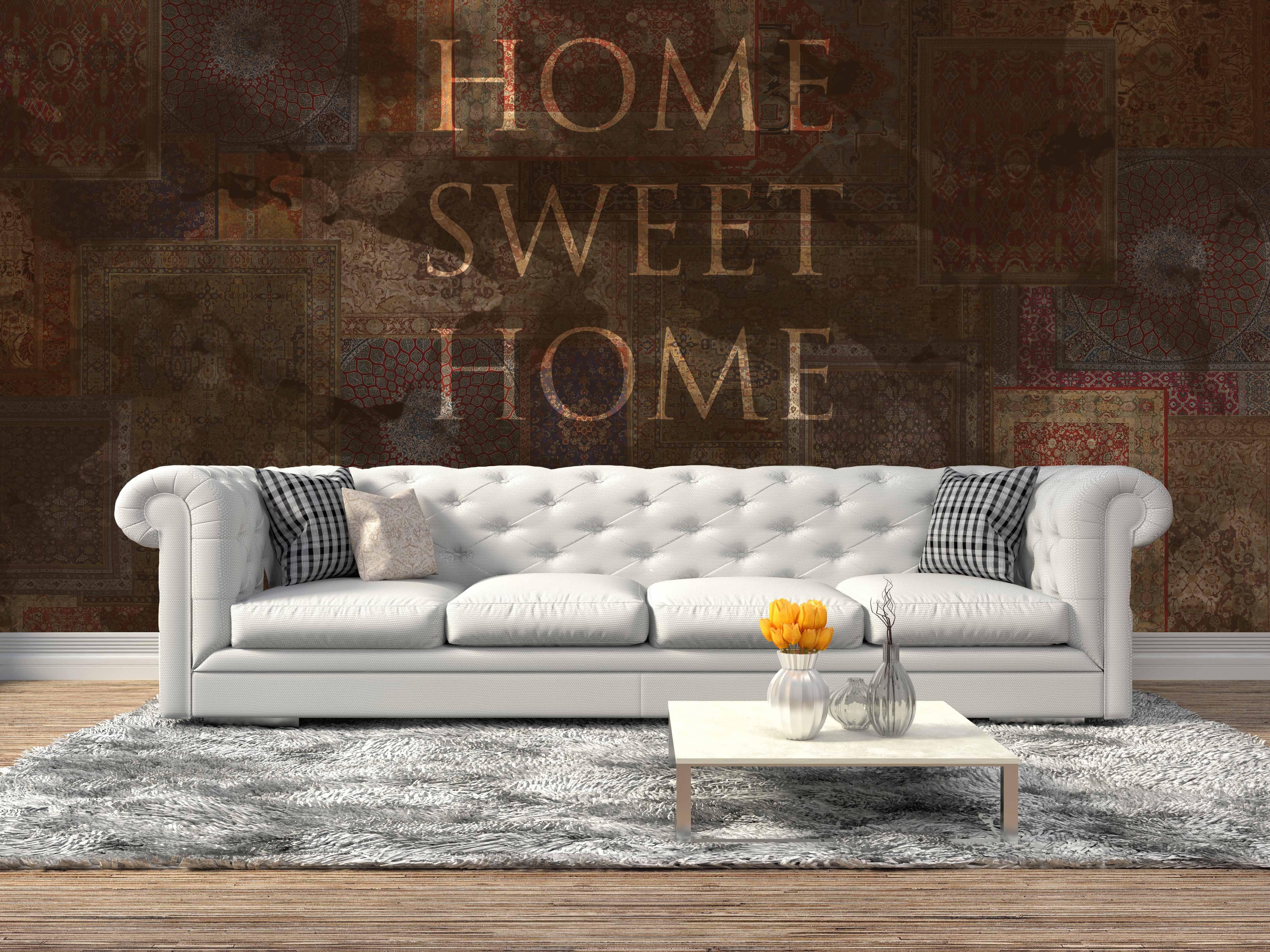 """Carta da parati Reparto Stampa modello """"Home Sweet Home"""