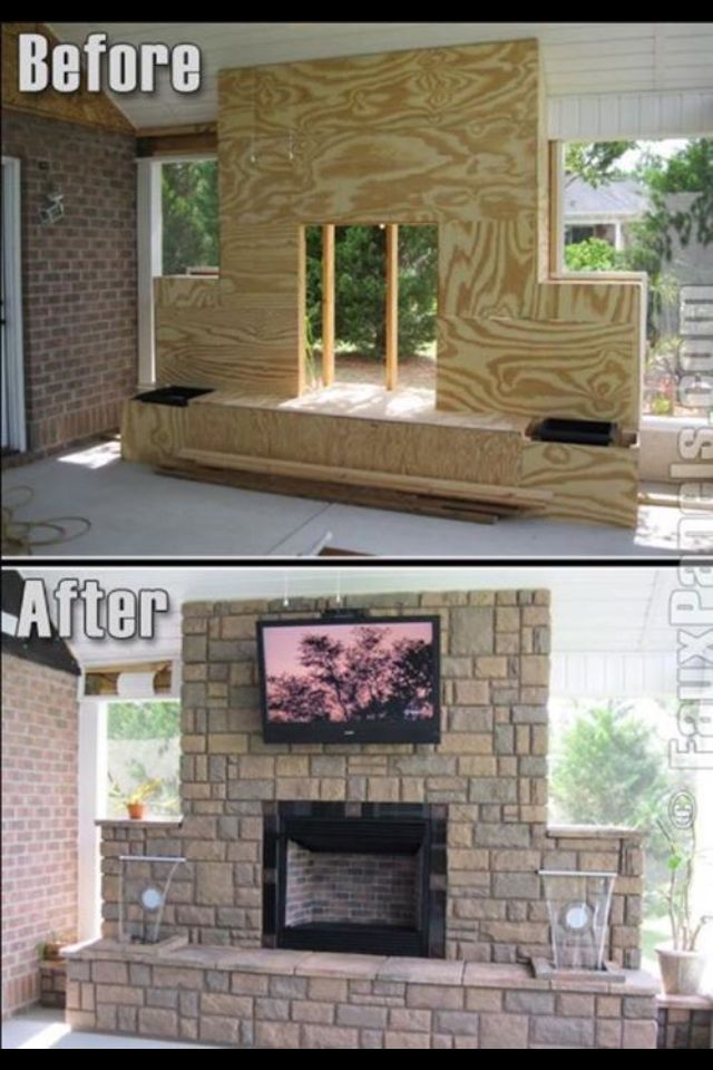 Outdoor Covered Patio With Fireplace Great Addition Idea Dream Dream Dream: Outdoor Fireplace, Backyard Patio, Backyard