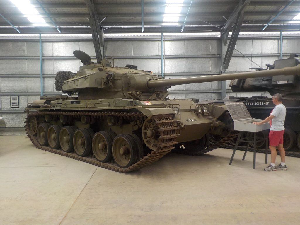A Centurion Tank of the 1st Armoured Regiment on