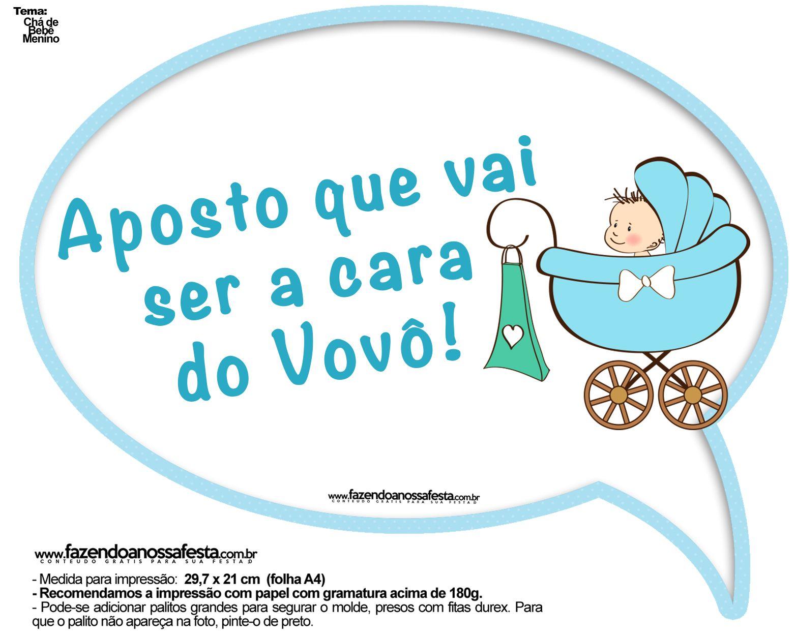Extremamente Plaquinhas Divertidas Chá de Bebê Menino 4 | Molde and Babies UH48