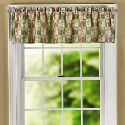 Palm Tree Jacquard Window Valance Decor Window Valance Furniture Gifts