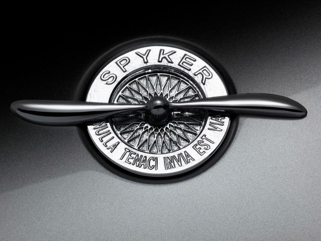 Spyker C8 Spyder T Logo 1024x768 Wallpaper Car Hood Ornaments Car Logos Car Brands