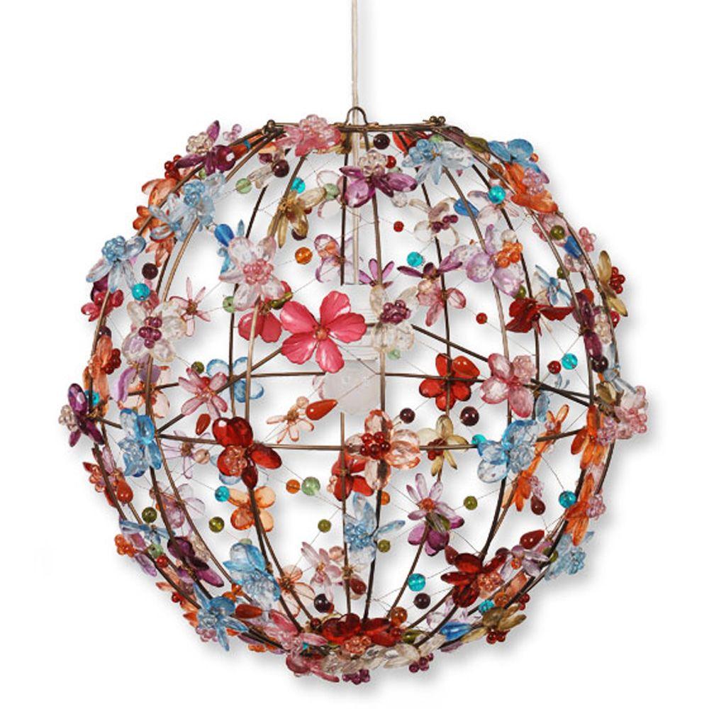 Bijzondere handgemaakte bloemenlamp van Colorique. Voor een vrolijke finishing touch in elke meidenkamer!
