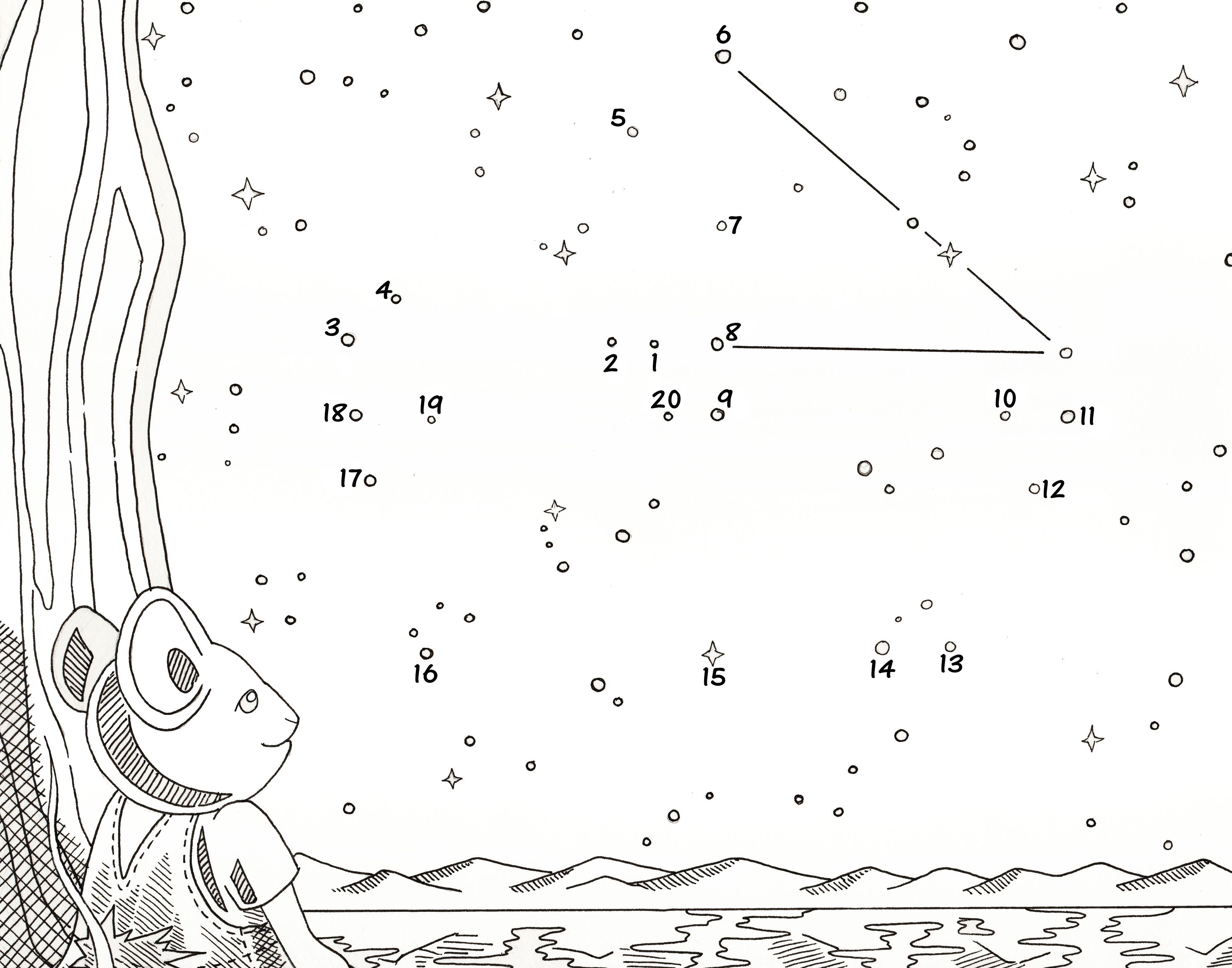 Constellation Dot To Dot Worksheets Free