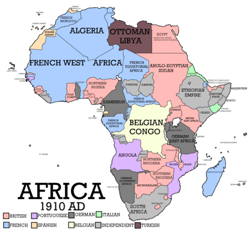 Colonial Africa 1910 by Robo Diglet | History | French west africa