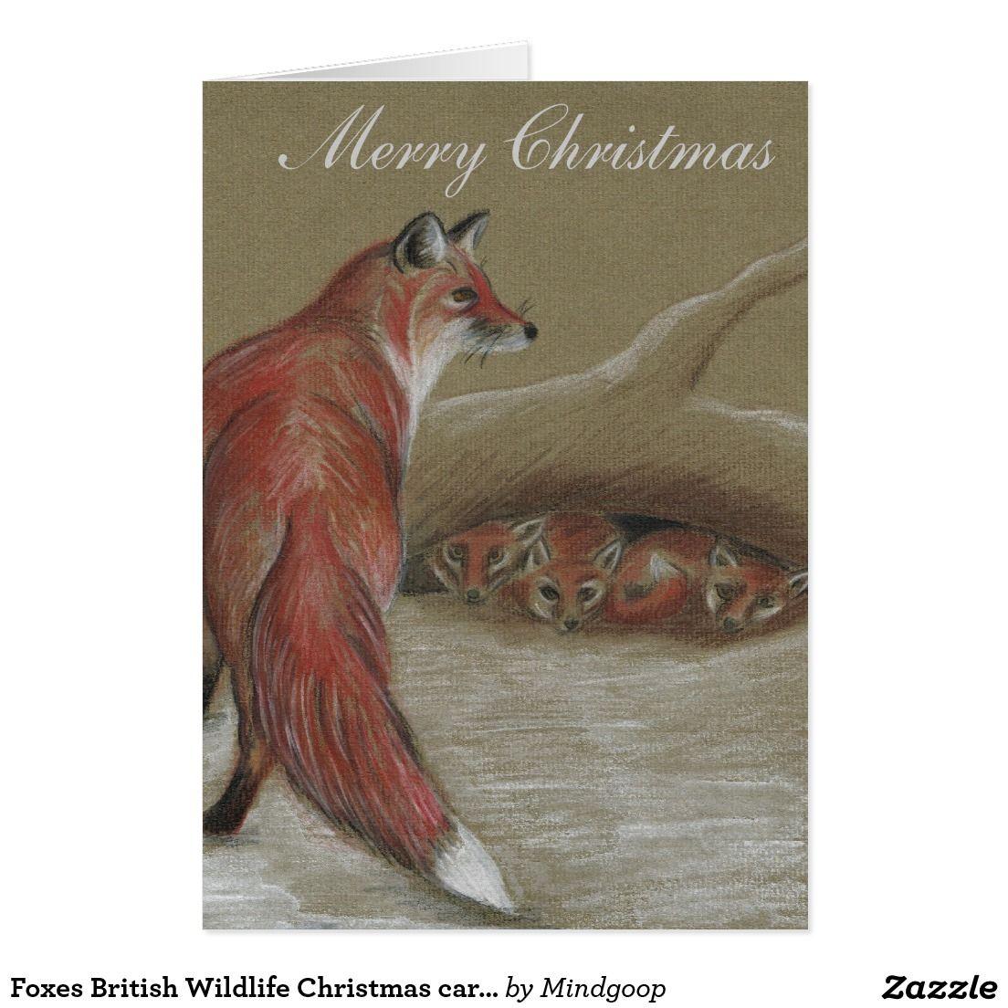 Foxes British Wildlife Christmas cards | Pinterest