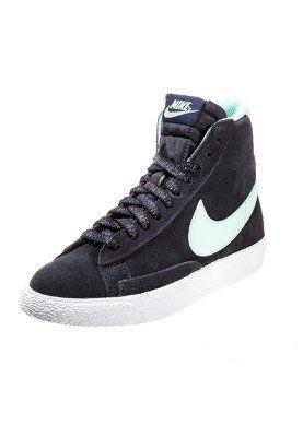b73b52a0571 Nike Sportswear BLAZER VINTAGE Sneakers hoog Blauw Jongens Hoge sneakers  leer kinderschoenen kinder maat: 18