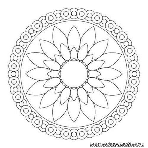 Basit Mandala Yapimi Tas Boyama Sanati I Soyut Boyama Sayfalari Mandala Boyama Sayfalari Mandala