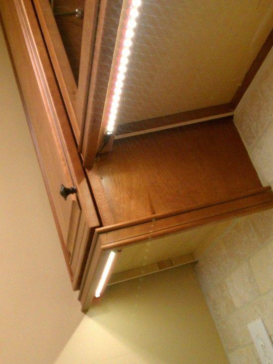 rope lights cabinet lighting