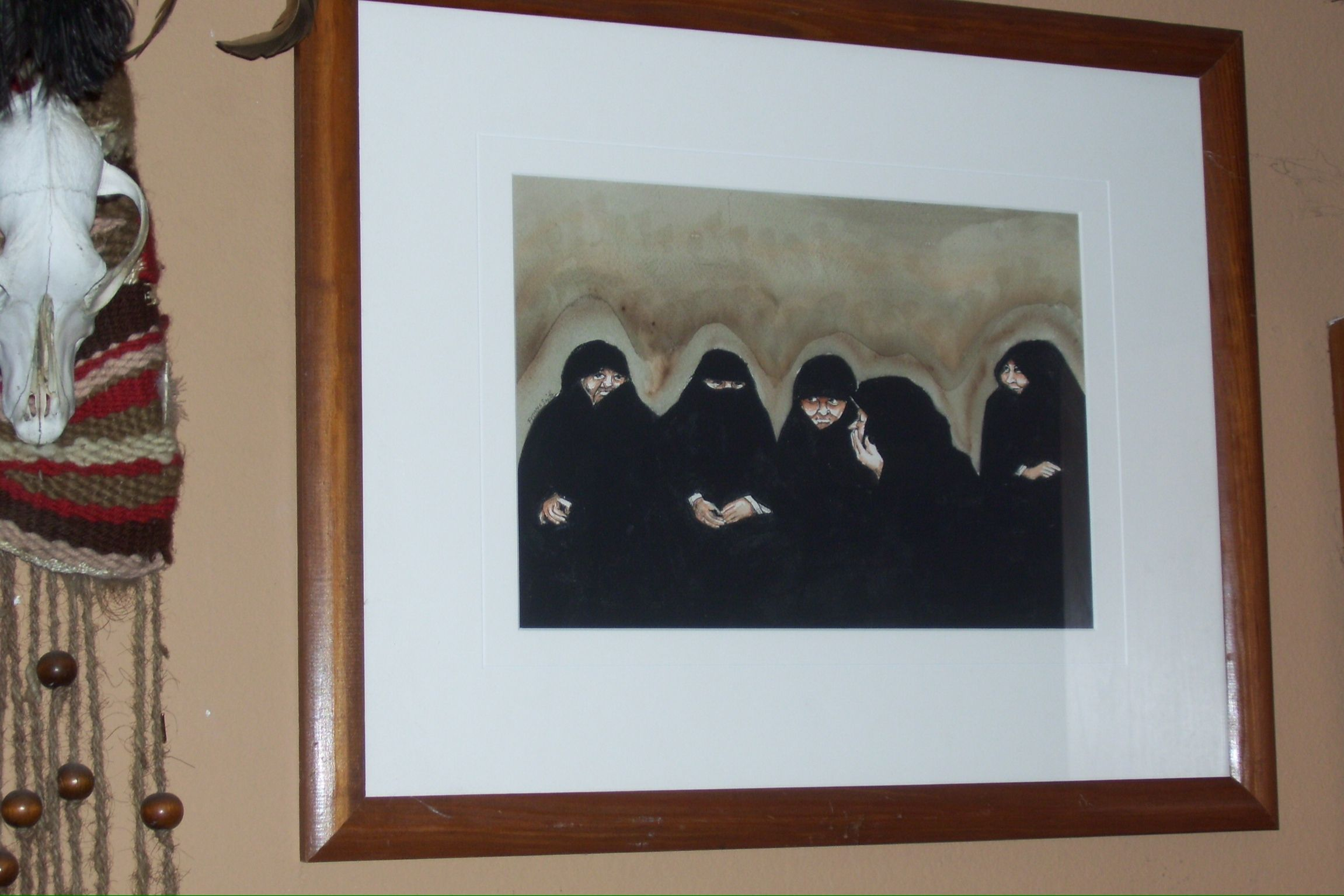 Arab ladies watercolor  by Frances Smith