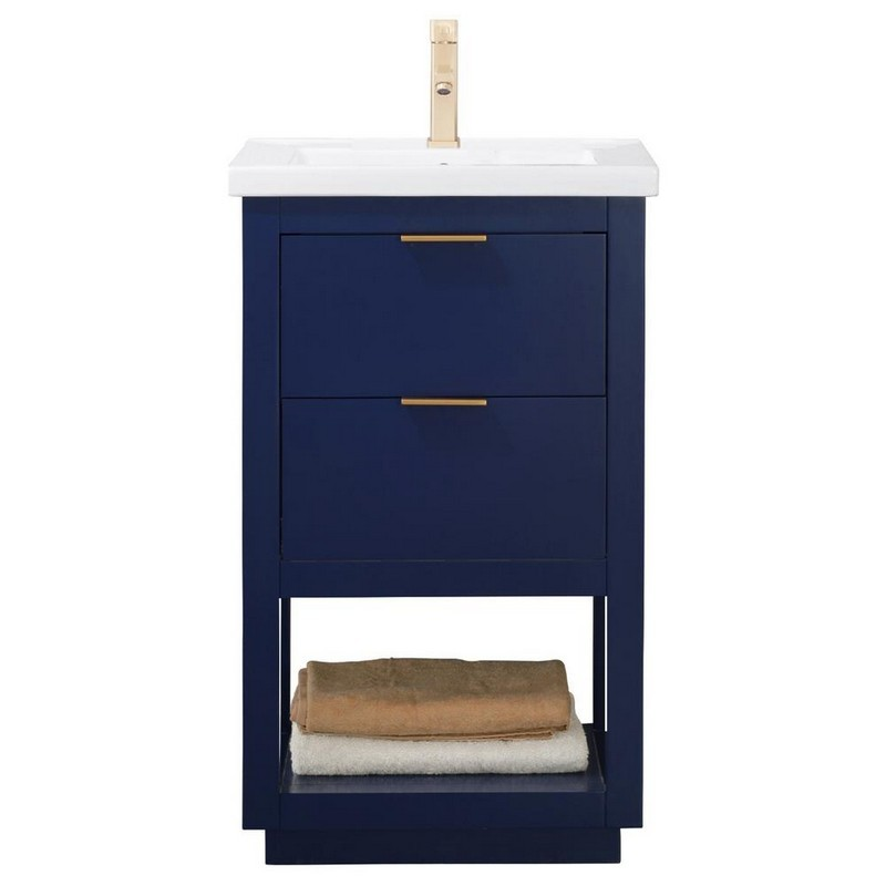 Design Element S04 20 Blu Klein 20 Inch Bath Vanity In Blue S04 20