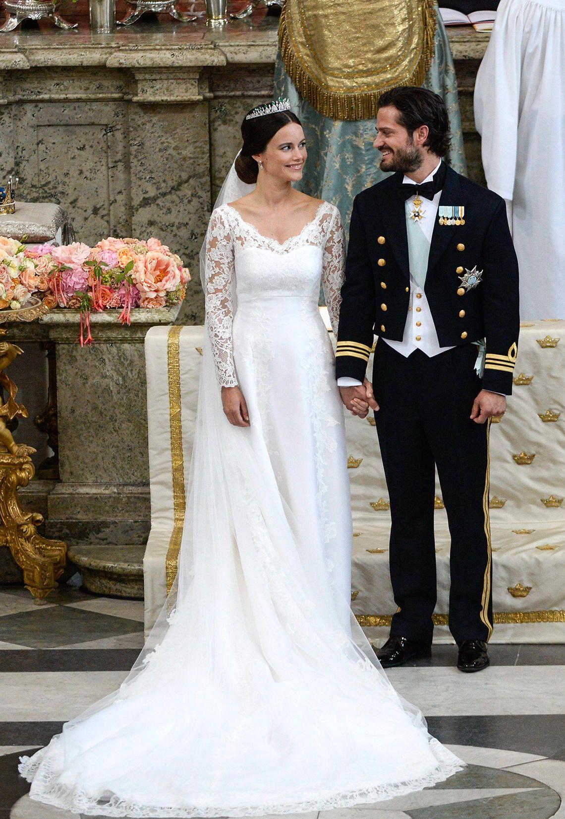 Die Hochzeitskleider der Schweden-Prinzessinnen  Hochzeitskleider