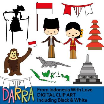 Clip Art From Indonesia With Love Dengan Gambar Candi