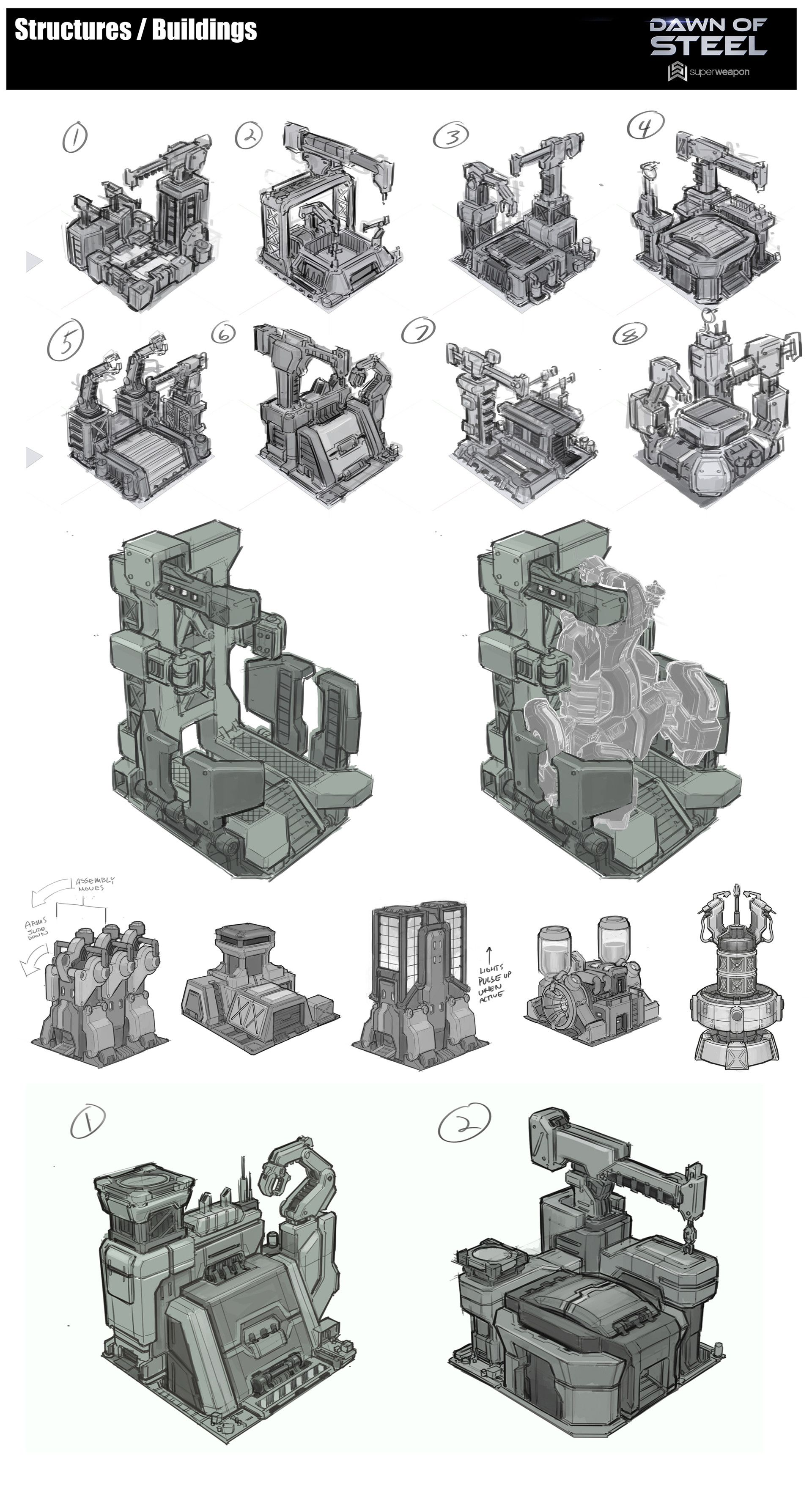 ArtStation - Dawn of Steel - Structures / Buildings ...