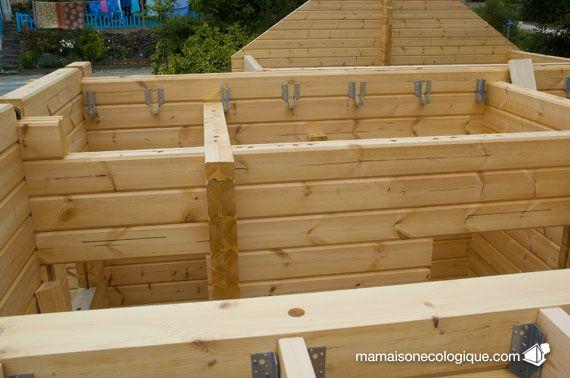 Maison Bois Pose Des Sabots Acier Zinc Pour Le Plancher D Etage