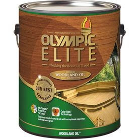Olympic Elite Woodland Oil Red Cedar Transparent Exterior Stain Actual Net Contents 128 Fl Oz 8011501 Exterior Stain Natural Toner Stain