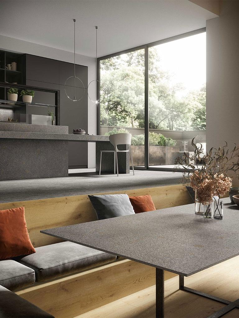 Large Format Kitchen Porcelain Tiles Atlas Plan Grosser Esstisch Fliesen Tische Arbeitsplatte