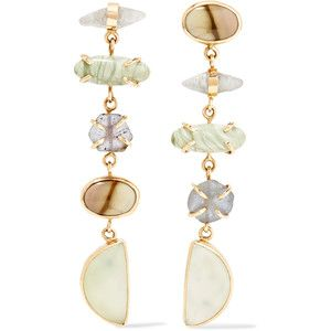 14-karat Gold, Sterling Silver And Multi-stone Earrings - one size Melissa Joy Manning