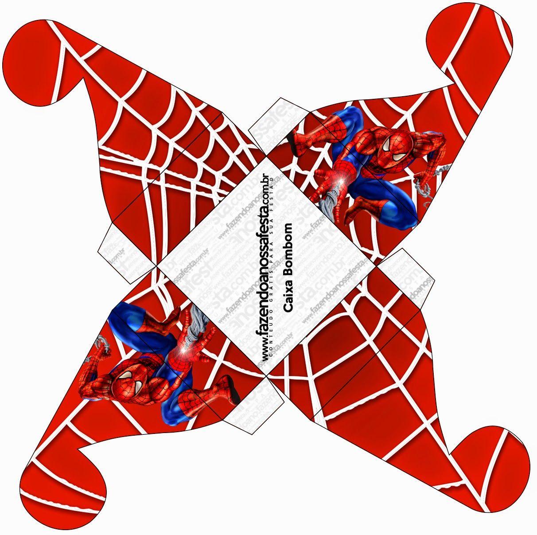 Spiderman: Free Printable Boxes. | Jake\'s Crafts | Pinterest ...