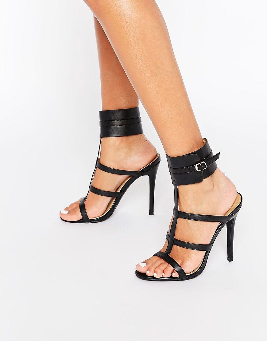 dab831175c1 Image 1 of Public Desire Nika Ankle Cuff Heeled Sandals
