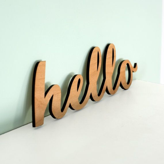 Wooden Signs Hello Sign Personalised Sign Calligraphy Font Wood Signs Home Decoration Wedding Signs We Custom Wooden Signs Hello Sign Personalized Signs