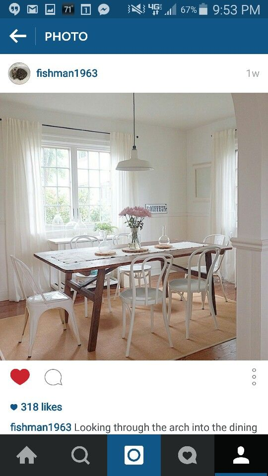 Whiter On White Room With Dark Wooden Table As Accent Piece Amusing Dining Room Accent Pieces Design Ideas