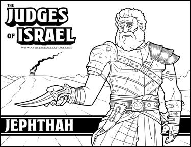 The Judges Of Israel Jephthah Kids Sunday School Lessons Bible