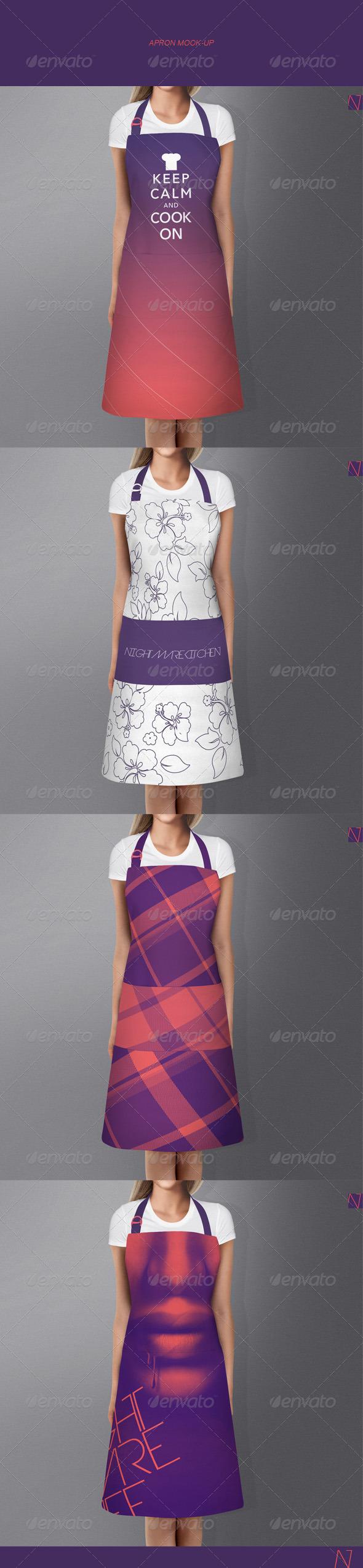 White apron mockup - Apron Mock Up Miscellaneous Apparel