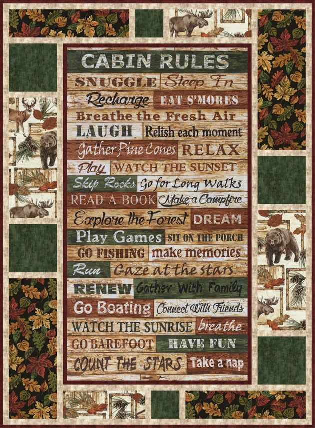 Timeless Treasures Cabin Rules Message Board