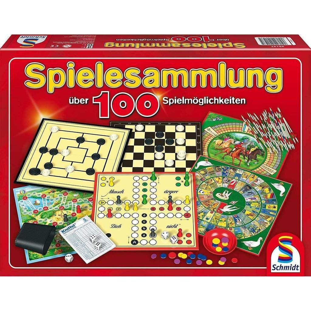 Schmidt Spiele 49147 Spielesammlung Mit Mehr Als 100 Spielmoglichkeiten Familienspiel Spielesammlung Familienspiele Schmidt Spiele