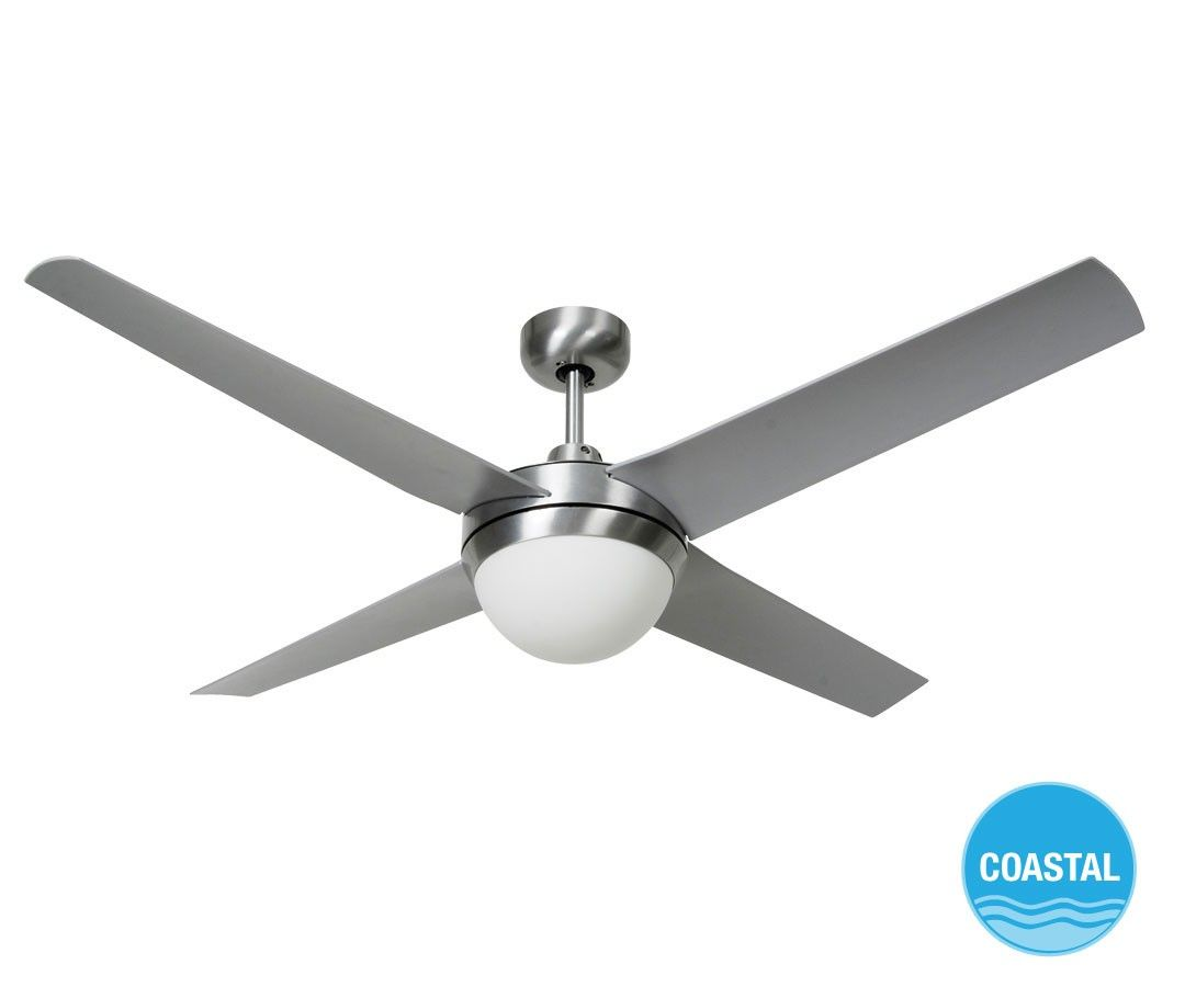 Altitude eco cm outdoor fan and light in brushed aluminium