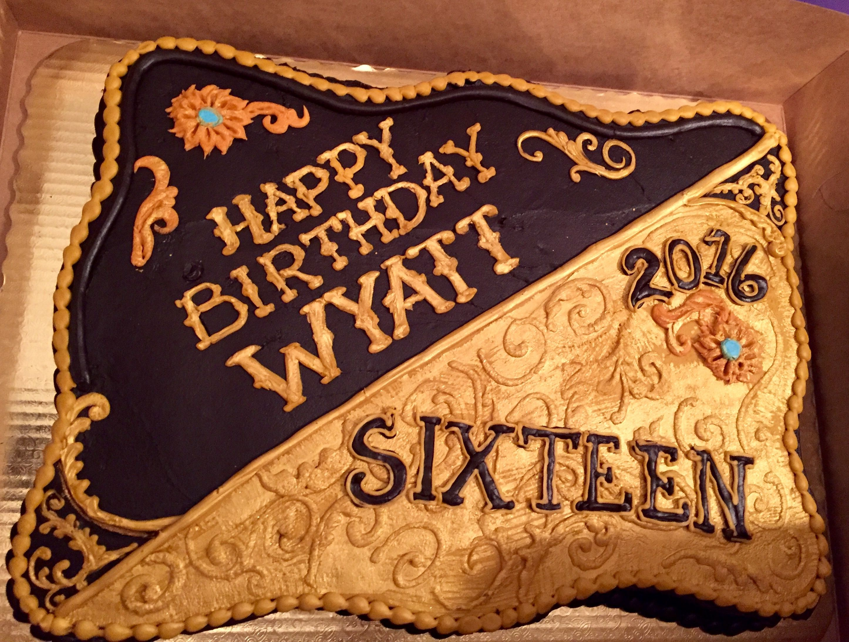 Sweet 16 Belt Buckle Cake You Can Have Your Cake Amp Eat