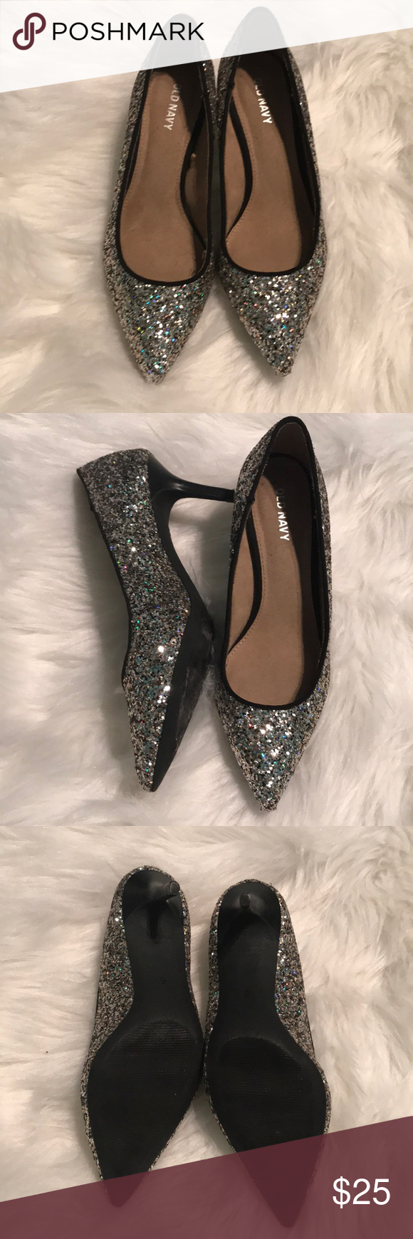 0cf4adb7b7bf New Old Navy Glitter Sparkle Pump Heels New with Tags Old Navy Glitter  heeled Shoes.