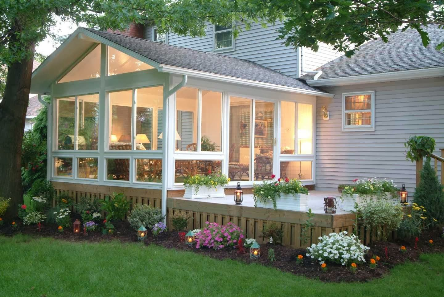 Pin by Kristen Marie on Home goals  Pinterest  Porch Sunroom