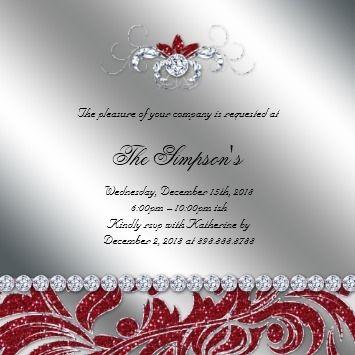 Pin By Mychristmaswedding On Wedding Christmas Wedding Invitations Silver Invitation Christmas Wedding
