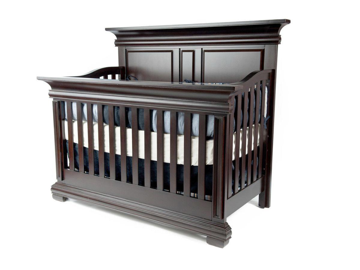 Wicker crib for sale durban - Majestic Lifetime Full Panel Flat Top Convertible Crib In Espresso By