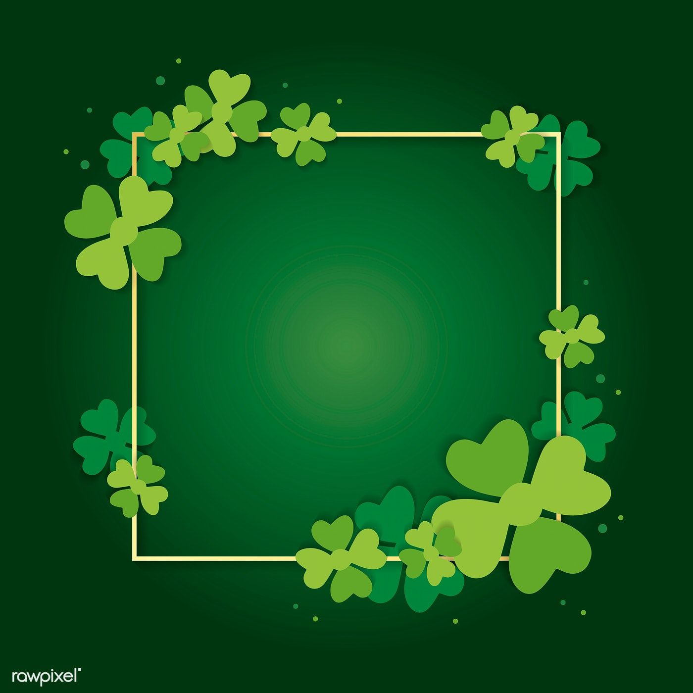 St Patrick S Day Blank Square Banner Vector Free Image By Rawpixel Com Ningzk V Banner Vector Flower Background Wallpaper Vector Free