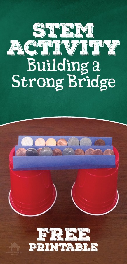 STEM Activity - Building Strong Bridges - Homeschool 101 #stemactivitieselementary