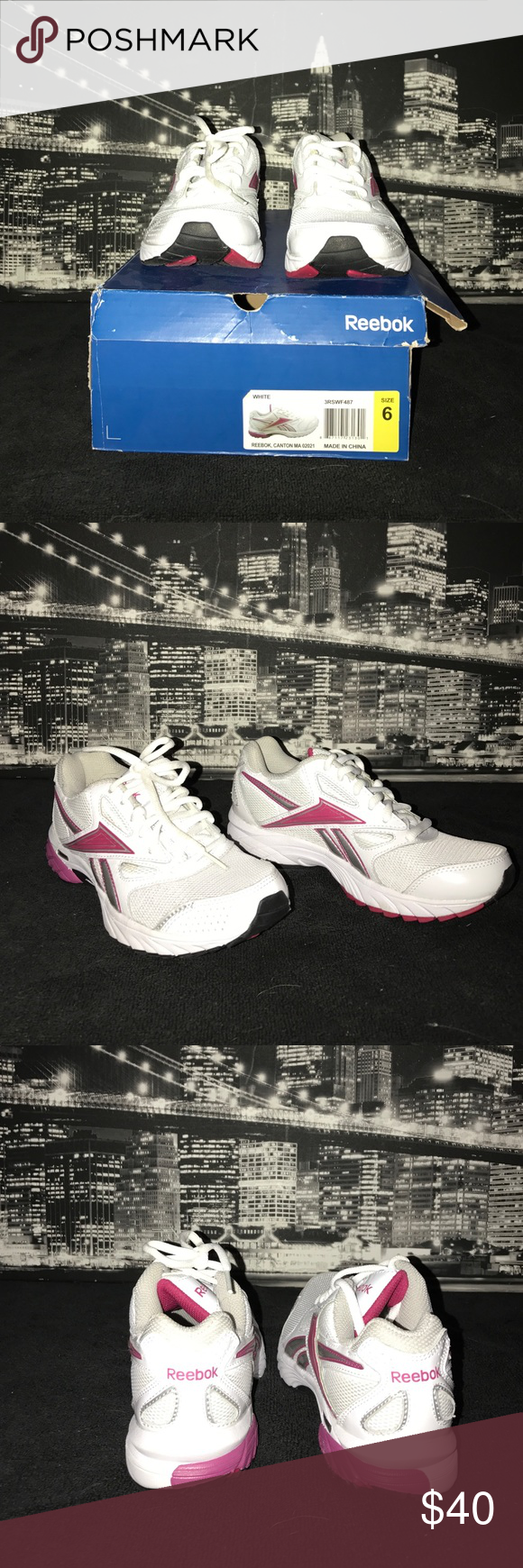 NWIB Reebok tennis shoes Great condition. Only tried on in store, never worn out! Classic style tennis shoes by Reebok. Made for comfort, support and durability. Still have original box too! Start the new year off right with some nice new kicks! Reebok Shoes Sneakers